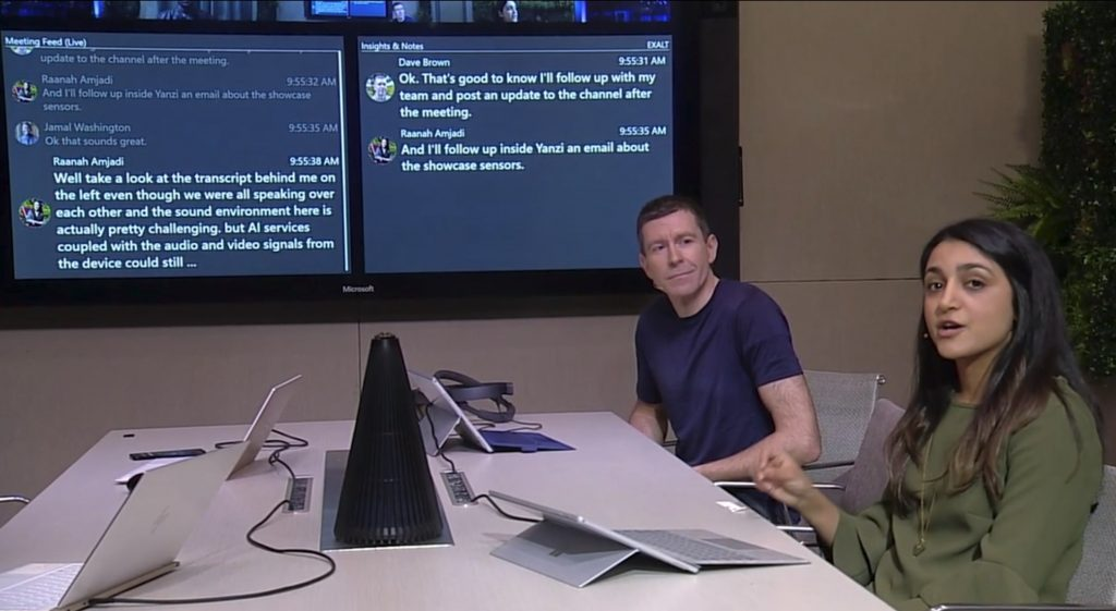 Microsoft's conference room of the future