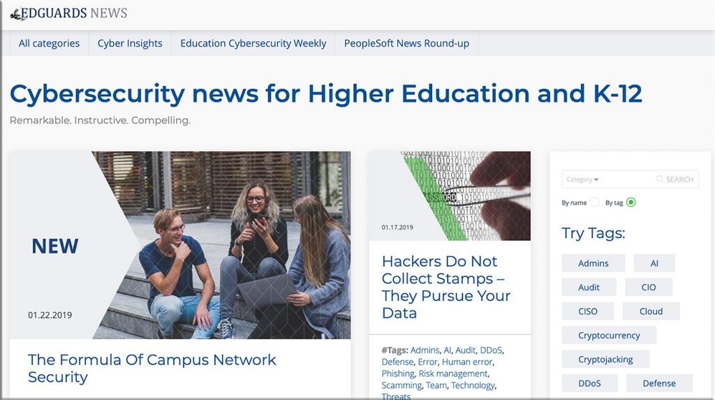 EdGuards News -- a helpful news resource for EdGuards Company about education and technology with a shift to cybersecurity