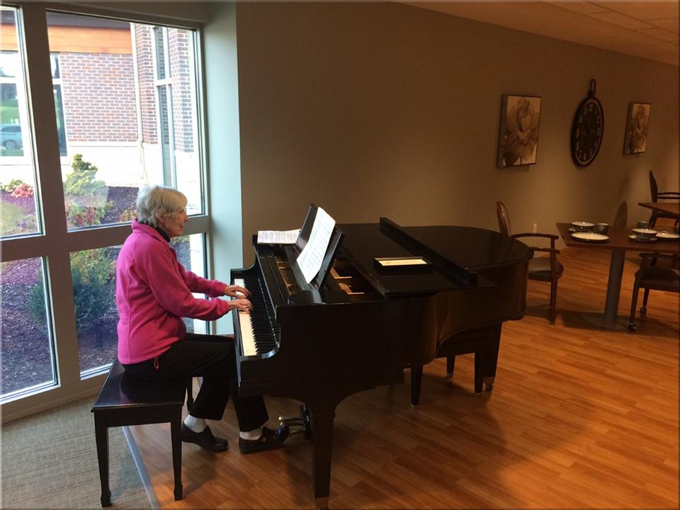Mom at the piano - 1