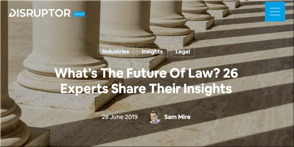 What's the future of law?