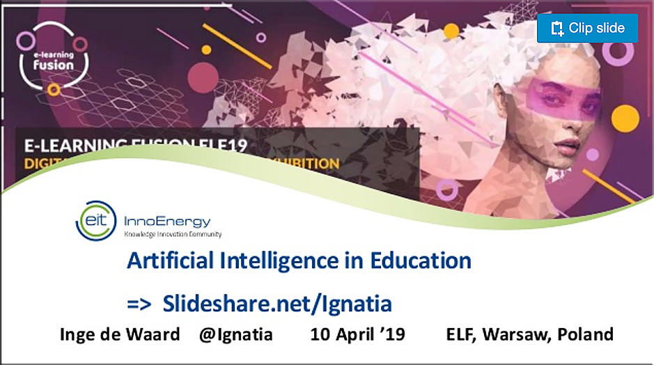 AI in education -- April 2019 by Inge de Waard
