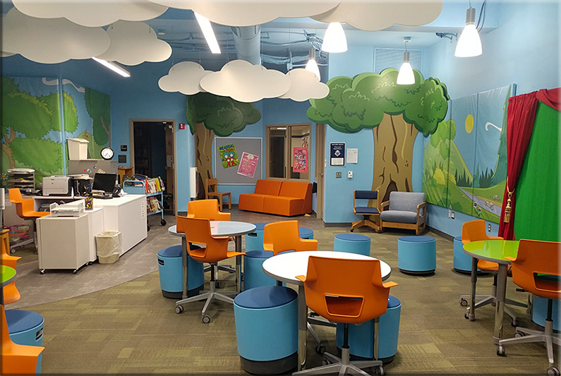 Another example of a wonderful learning space at Inventionland Institute
