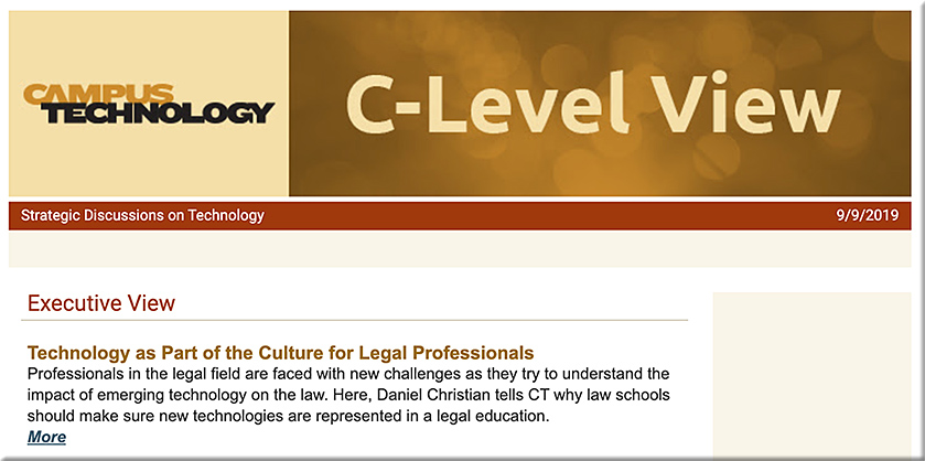 Technology as Part of the Culture for Legal Professionals -- a Q&A with Mary Grush and Daniel Christian