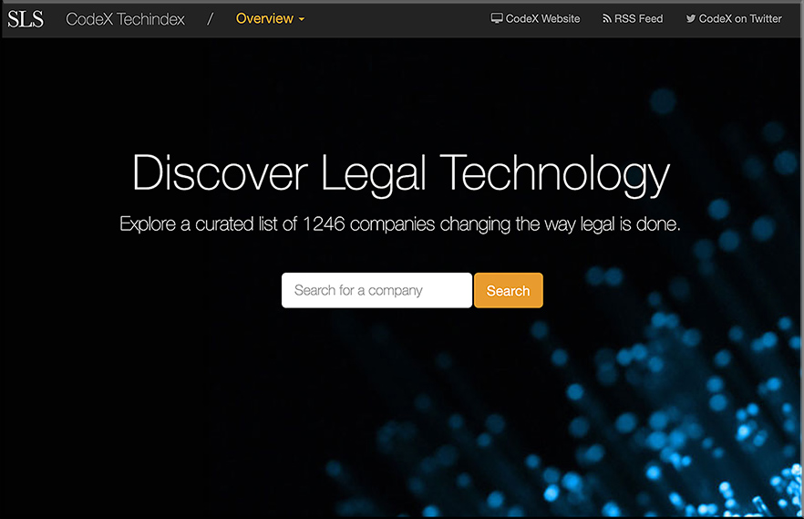 Discover legal tech by checking out techindex.law.stanford.edu