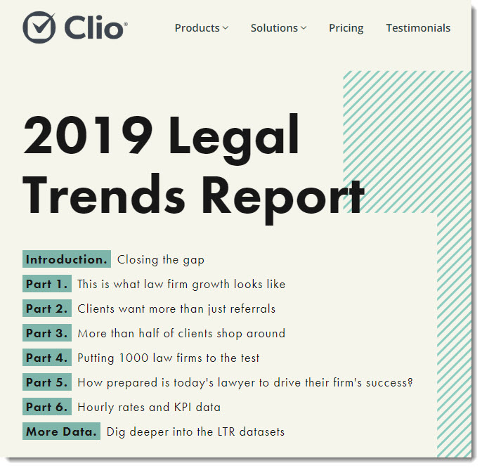 Clio's Legal Trends Report for 2019