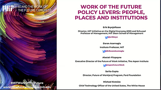 The future of work -- recording of event at MIT -- listing of panelists