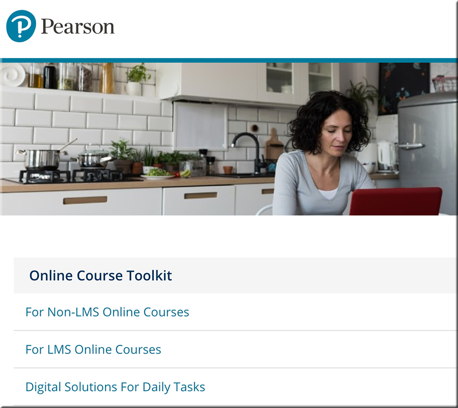 Online course development toolkit -- from Pearson