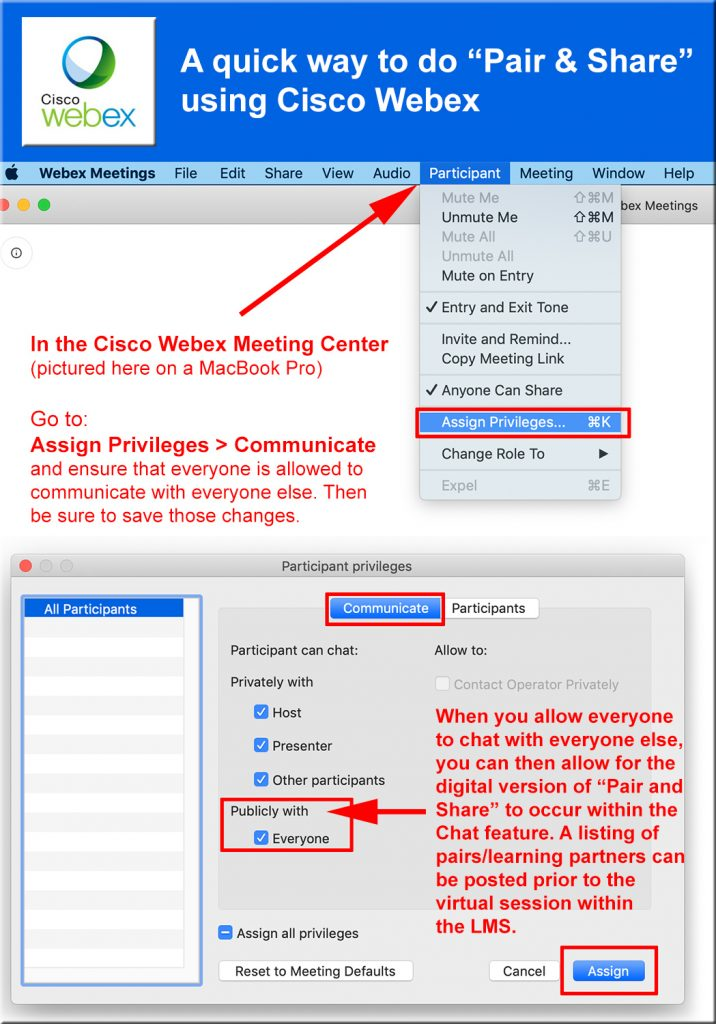 Providing a quick pair and share method using the Cisco Webex Meeting Center product
