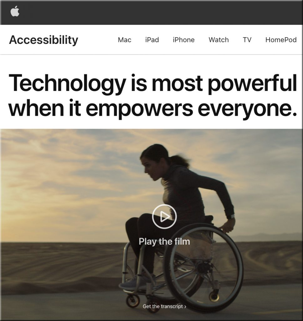 Accessibility-related features from Apple
