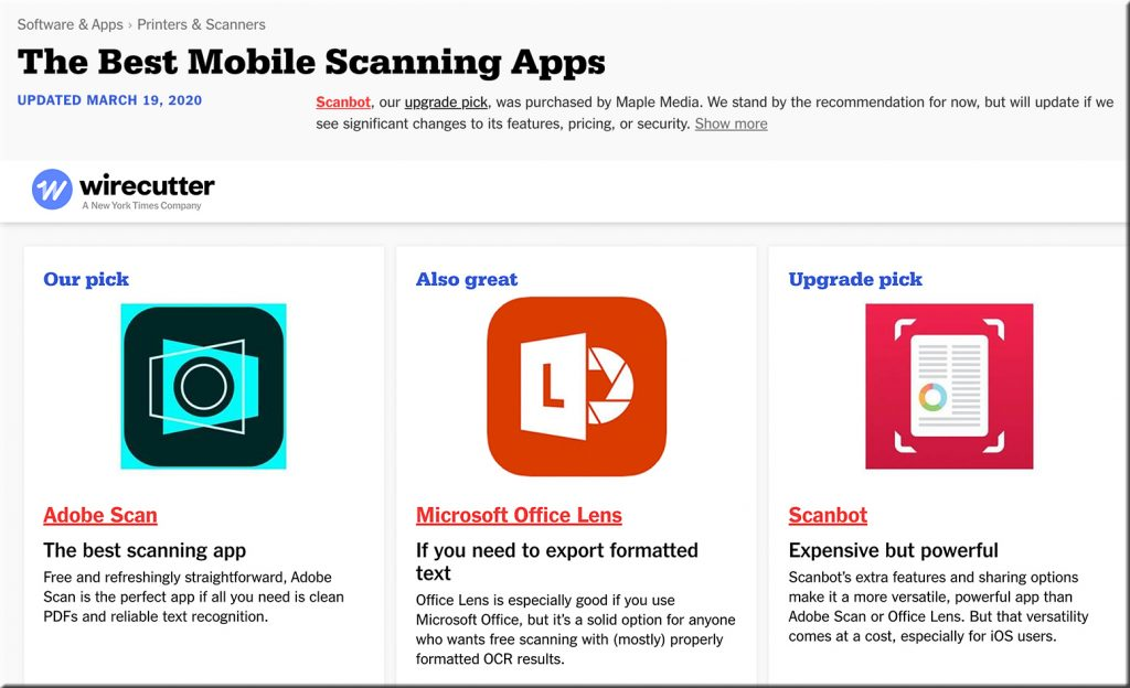 The Best Mobile Scanning Apps -- 2020
