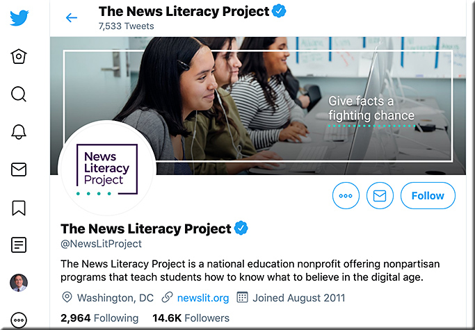 The News Literacy Project on Twitter