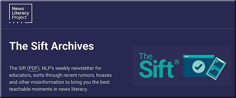 The Sift Archives -- getting at the truth within the media