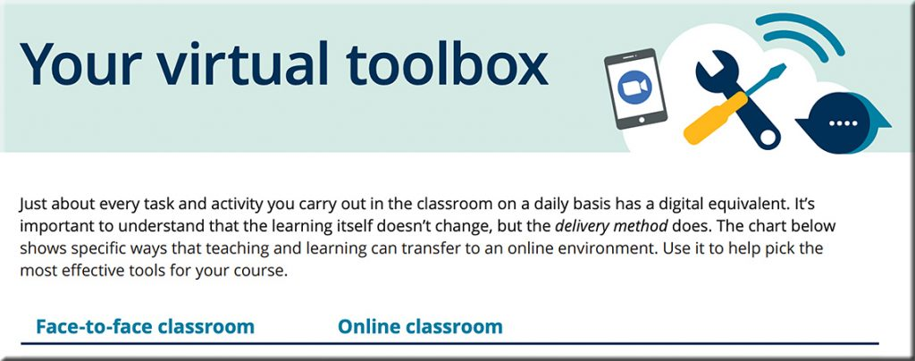 Your virtual toolbox