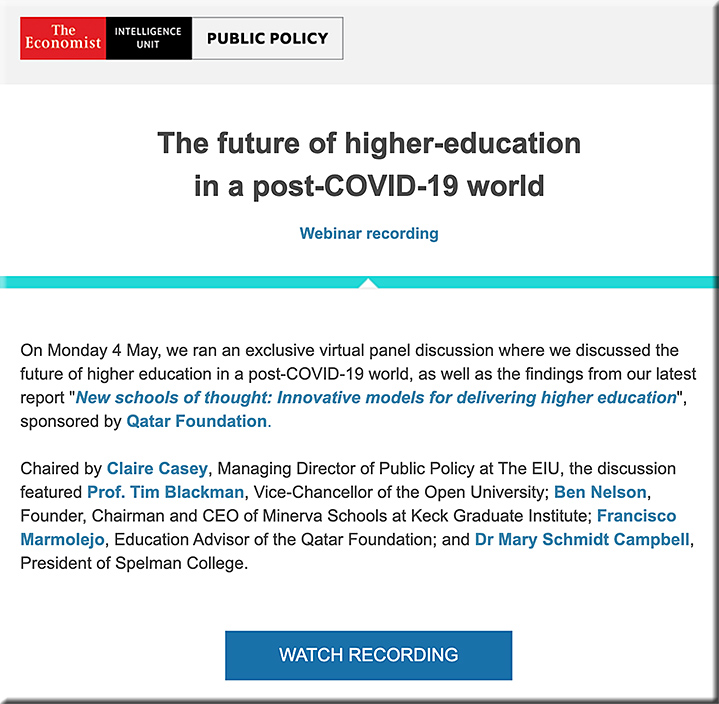 The future of higher-education in a post-COVID-19 world