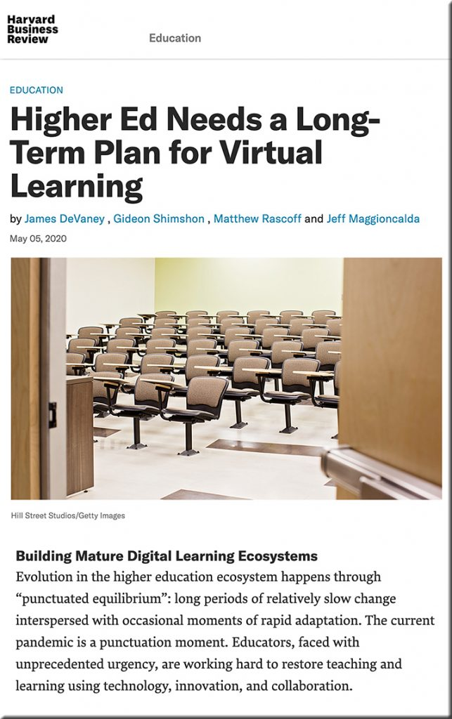 Higher ed needs to build more mature Digital Learning Ecosystems