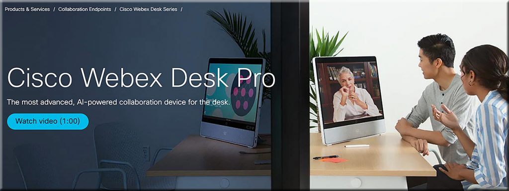 Cisco Webex Desk Pro -- AI integrated into Webex Meetings