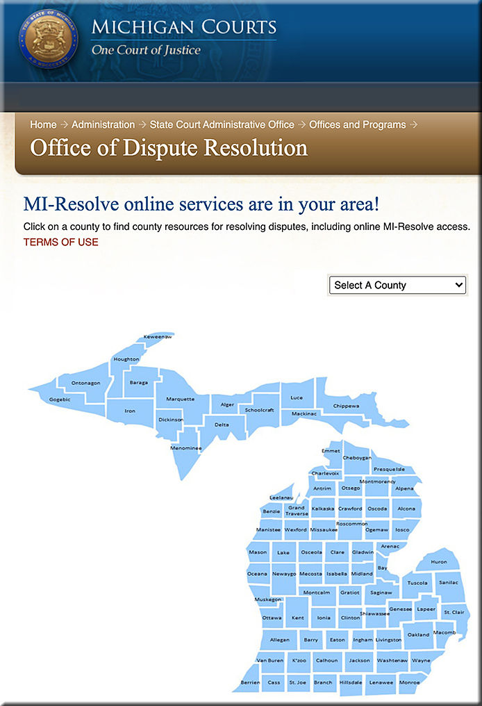 NEW! Resolve disputes online for free -- with or without a mediator!