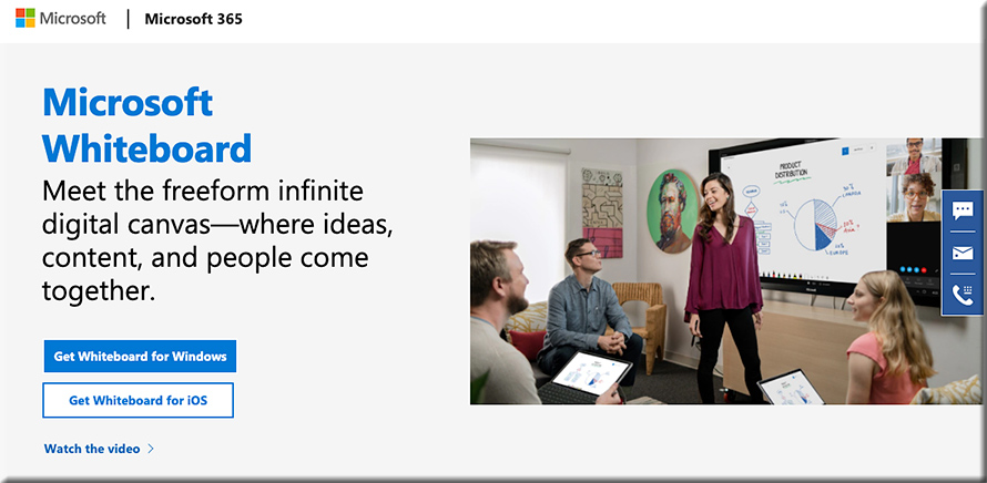 The new Microsoft Whiteboard -- how might this be used for online-based learning? Learning pods?