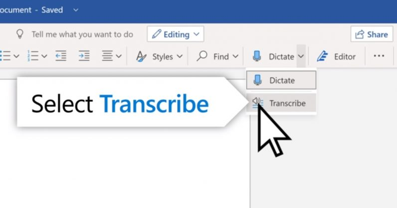 Here is how to use Microsoft's new Transcribe feature in Word