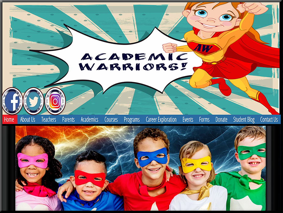 Check out the Academic Warriers website