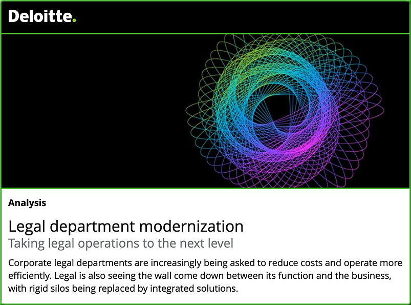 Deloitte's 2020 Legal Operations Survey