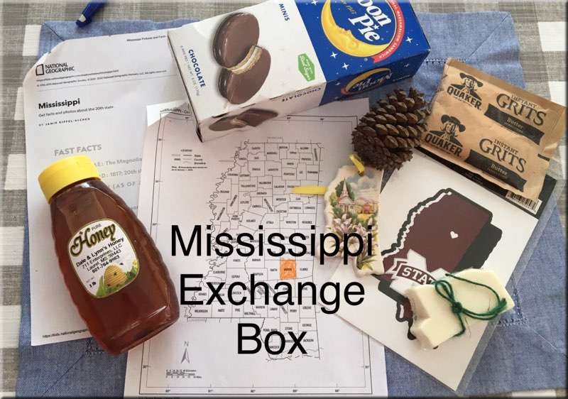 My wife and one of our daughters received this set of things from a homeschooler in Mississippi! Very cool!