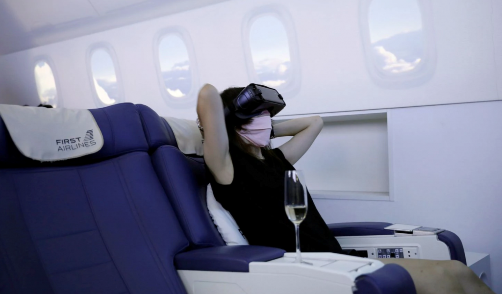 Travelers are paying real money to take VR flights to nowhere