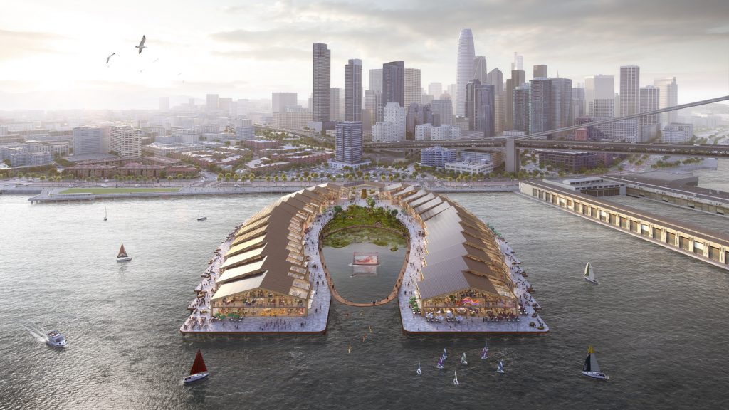 Heatherwick Studio designs flood-resilient park The Cove for San Francisco -- from dezeen.com by Eleanor Gibson