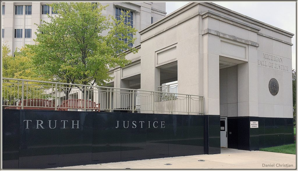 Michigan's Hall of Justice -- Truth and Justice