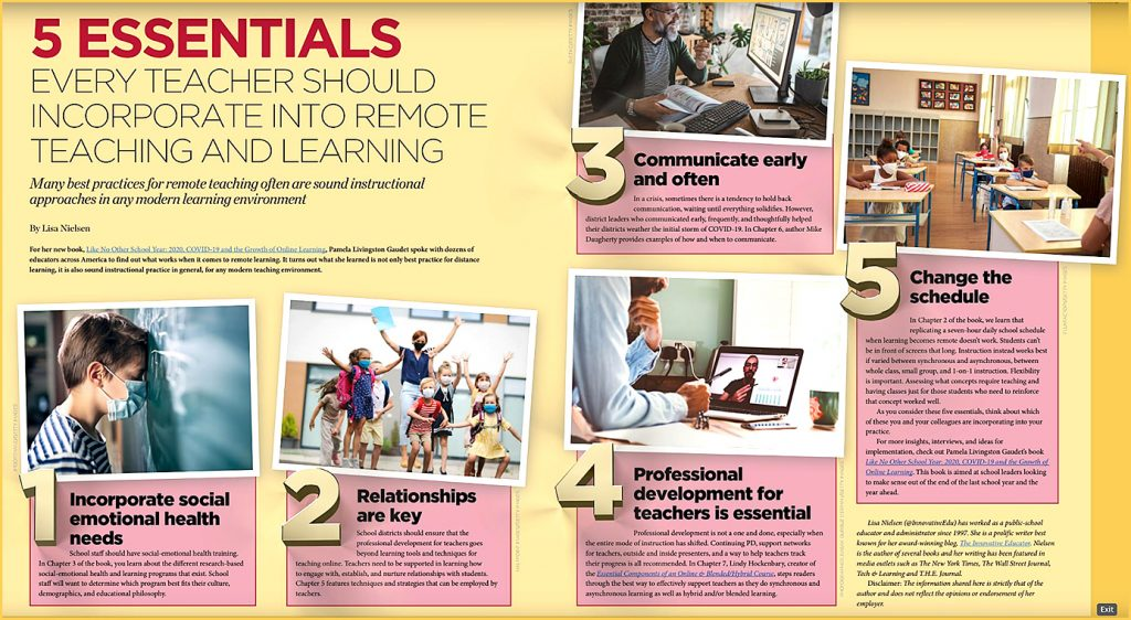 5 essentials every teacher should incorporate into remote teaching and learning