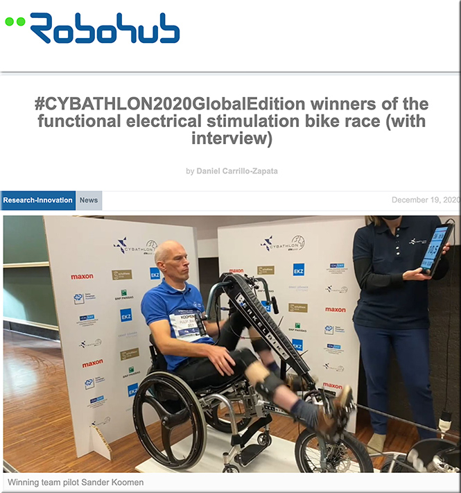 #CYBATHLON2020GlobalEdition winners of the functional electrical stimulation bike race (with interview)