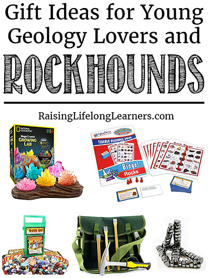 Gift ideas for young geology lovers and rockhounds/