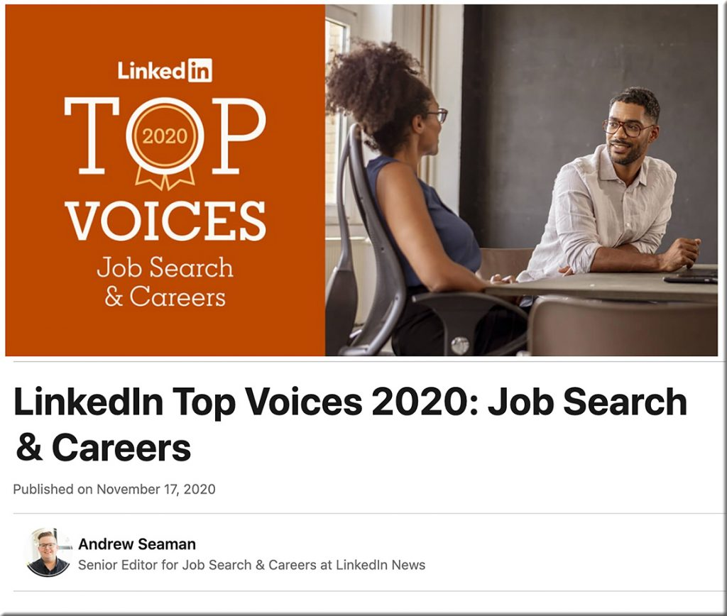 LinkedIn Top Voices 2020: Job Search & Careers