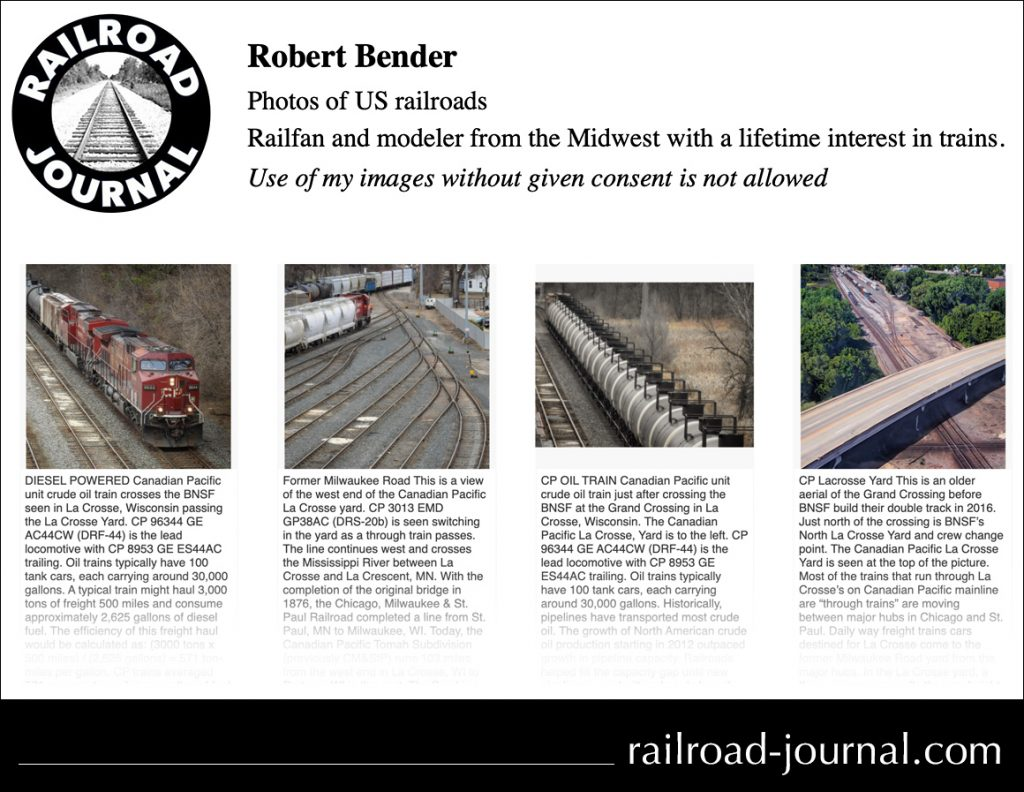 Railroad-journal dot com -- for those folks who love trains and photography!