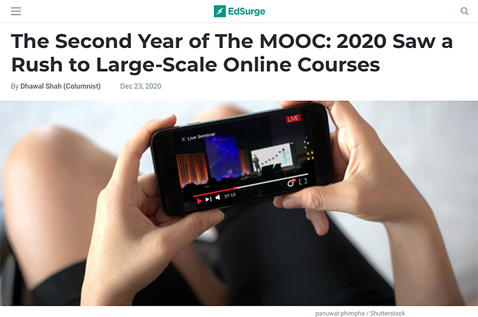 The Second Year of The MOOC: 2020 Saw a Rush to Large-Scale Online Courses