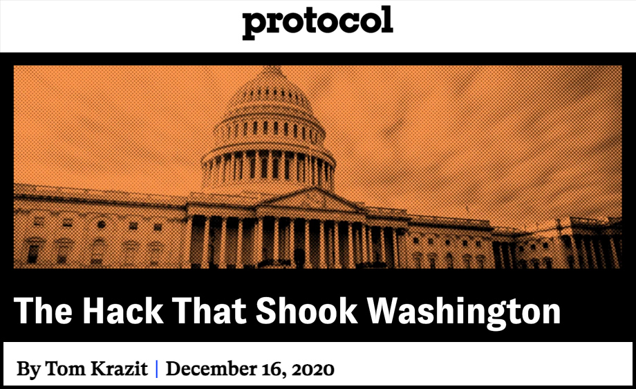 The Hack That Shook Washington -- by Tom Krazit