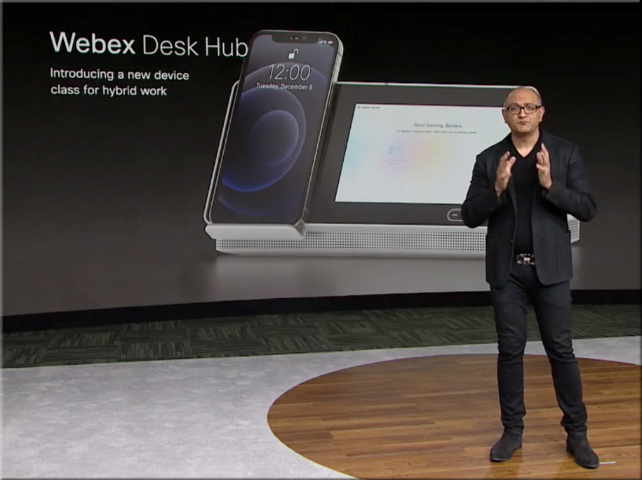 A new category of devices from Cisco -- the Webex Desk Hub