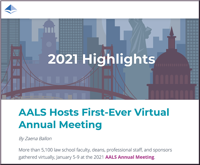 AALS Hosts First-Ever Virtual Annual Meeting