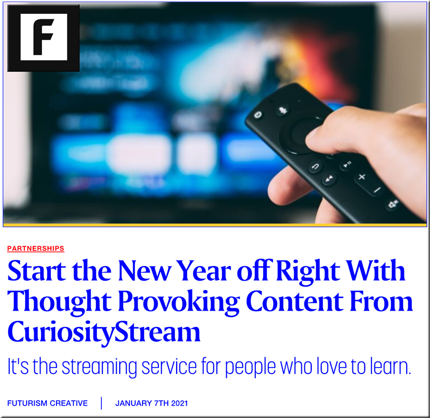 CuriosityStream: The streaming service for people who love to learn.