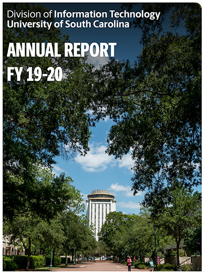 Here is an example annual report from the University of South Carolina's IT Division
