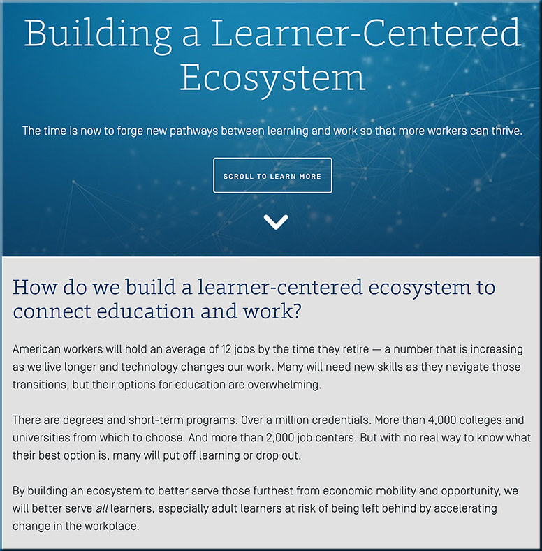 Building a Learner-Centered Ecosystem -- from the Strada Education Network