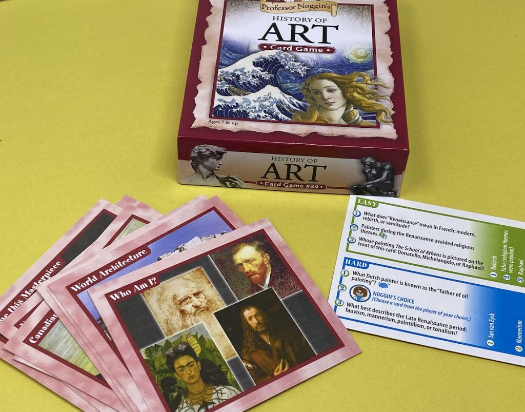 6 Games Perfect for the Art Room -- Professor Noggin's History of Art is