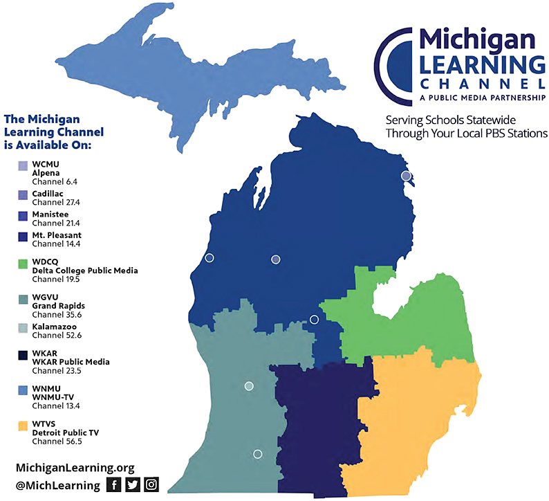 Michigan Learning Channel -- which stations carry it