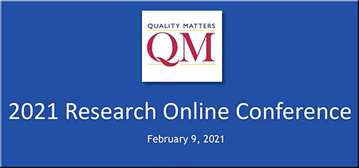 Join your colleagues to explore the latest online learning research at the QM Research Online Conference