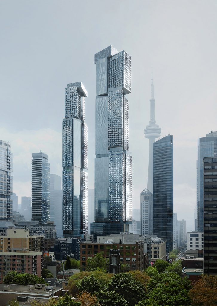 Frank Gehry reveals latest design for supertall skyscraper in Toronto -- from dezeen.com by India Block