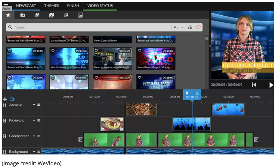 Editing digital video -- image from WeVideo