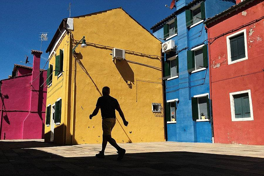 Color-Drenched Island of Burano, Italy