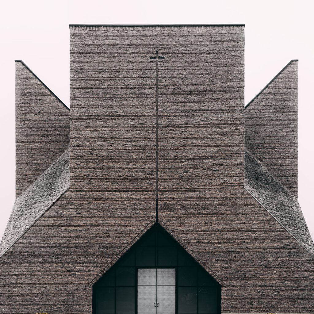 Lines, Forms and Surfaces of Milanese Architecture -- this image portrays a beautifully designed church