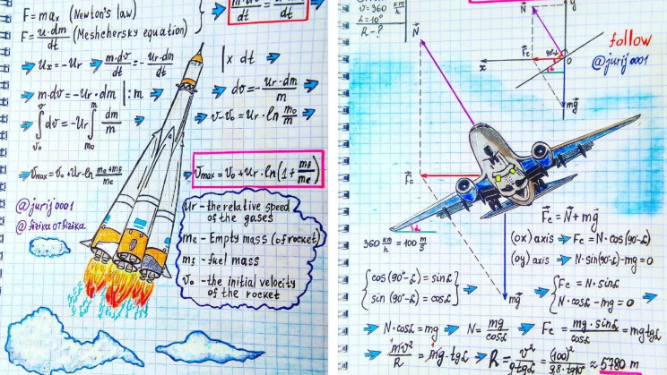 From electromagnetism to the law of conservation of energy, this teacher illustrates all your favorite physics formulas.