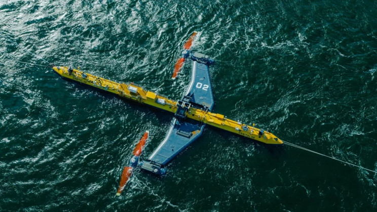 Picture of the Orbital 02, purportedly the world's most powerful tidal turbine